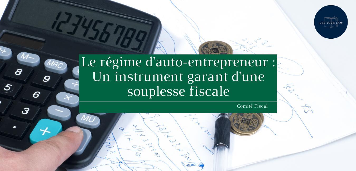 Le régime d'auto-entrepreneur : Un instrument garant d'une souplesse fiscale