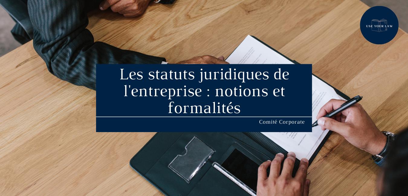 Les statuts juridiques