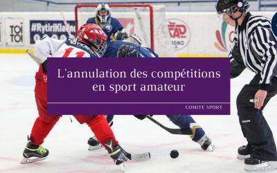 L'annulation des compétitions en sport amateur