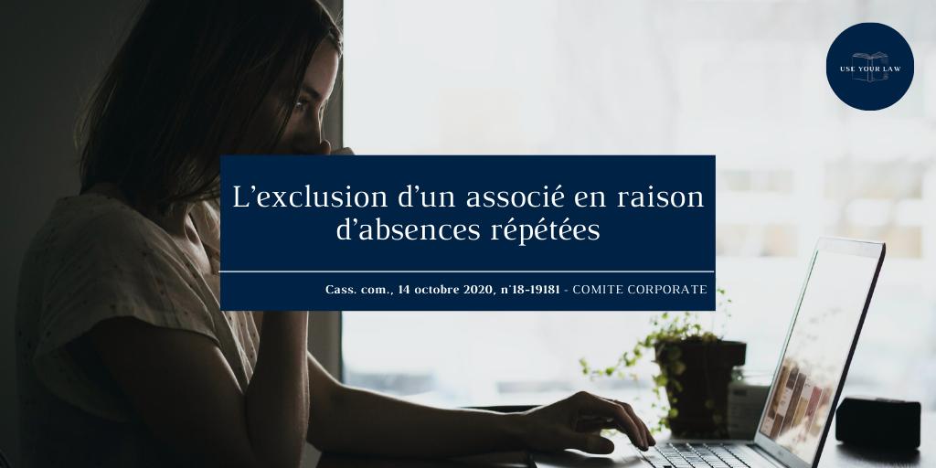 exclusion-d-un-associé-en-raison-absences-répétées