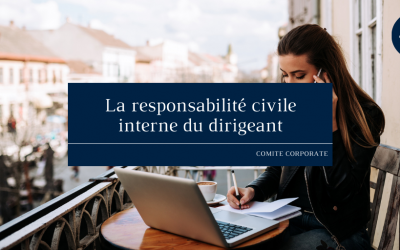 La responsabilité civile interne du dirigeant