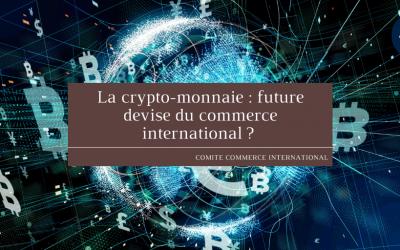 La crypto-monnaie : future devise du commerce international ?