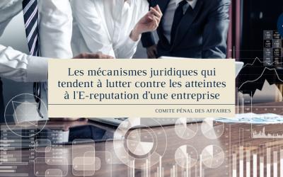 Les mécanismes juridiques qui tendent à lutter contre les atteintes à l'E-reputation d'une entreprise
