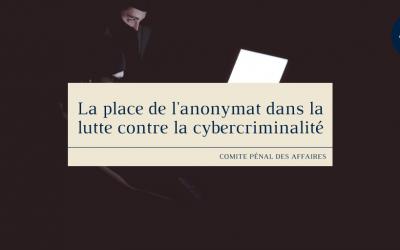 La place de l'anonymat dans la lutte contre la cybercriminalité