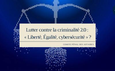 Lutter contre la criminalité 2.0 : « Liberté, Égalité, cybersécurité » ?