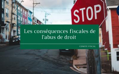 Les conséquences fiscales de l'abus de droit
