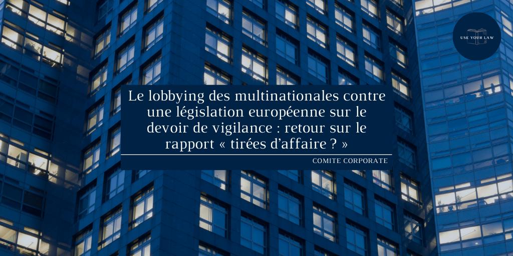 lobbying des multinationales
