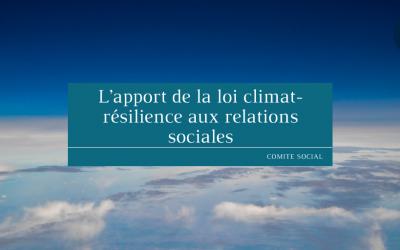 L'apport de la loi climat-résilience aux relations sociales