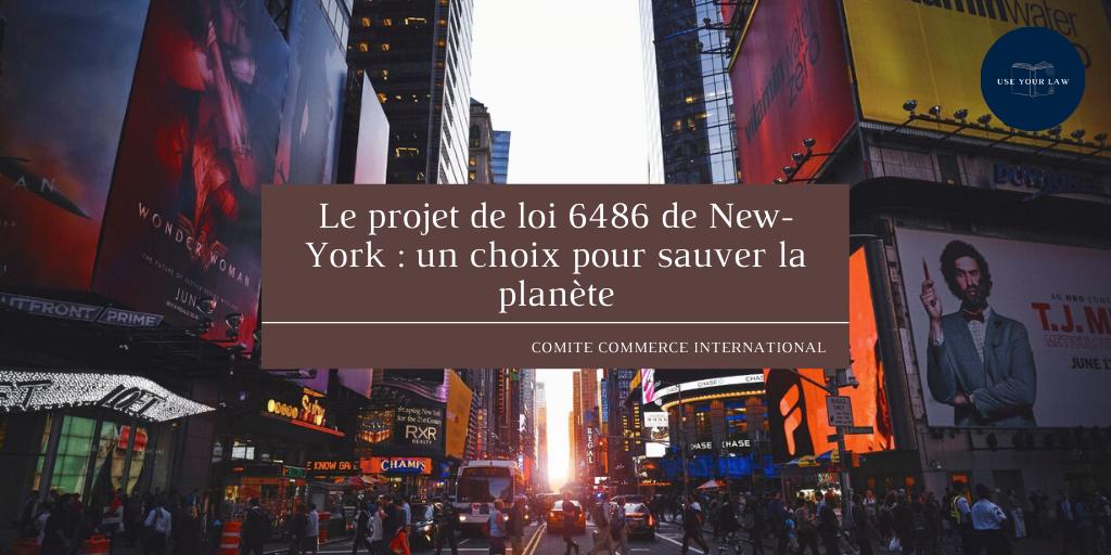 Le projet de loi 6486 de New-York : un choix pour sauver la planète